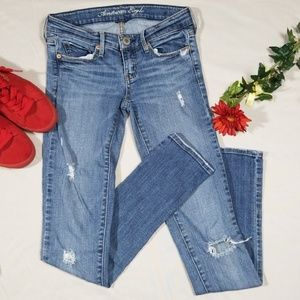 American Eagle Destroyed Skinny Jeans Size 0 Reg